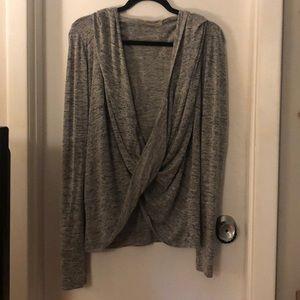 Zella grey wrap hoodie Medium